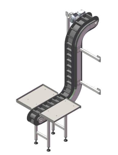 Конвейер подъемный скребковый  КПС-3400